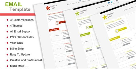 email template themeforest best email templates on themeforest for 2012