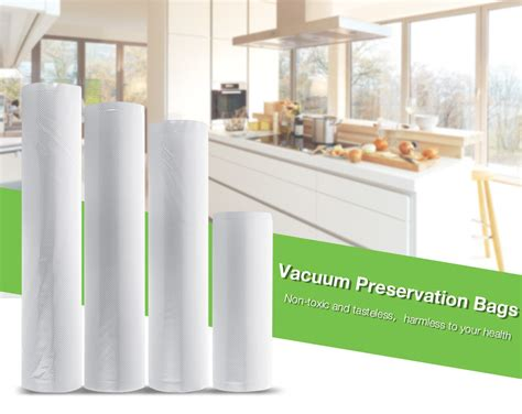 Kantong Plastik Vacuum Storage Bag 28x500cm 1 Roll kcasa kcvb03 28x500cm vaccum sealing bag roll food sealer machine bag kitchen ebay