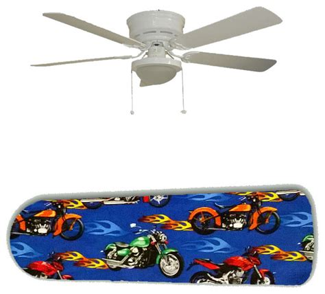 flaming chopper motorcycles 52 quot ceiling fan and l