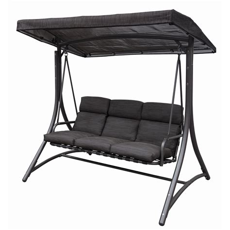 swing seat nz marquee mirage steel 3 seater swing bunnings warehouse