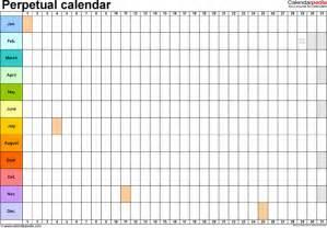 perpetual calendar template download free amp premium