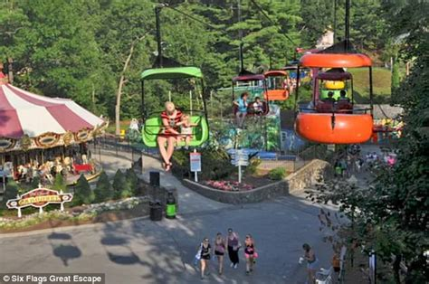 theme park upstate new york girl plunges 25ft from sky ride at six flags in new york
