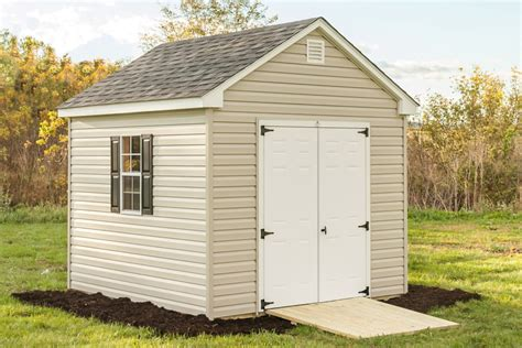 10x10 Wooden Shed by 10x10 Vinyl Cottage Byler Barns