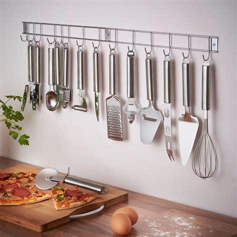 Holder For Kitchen by Vonshef 12 Stainless Steel Kitchen Utensils Gadget Set With Utensil Hanging Rack Bar
