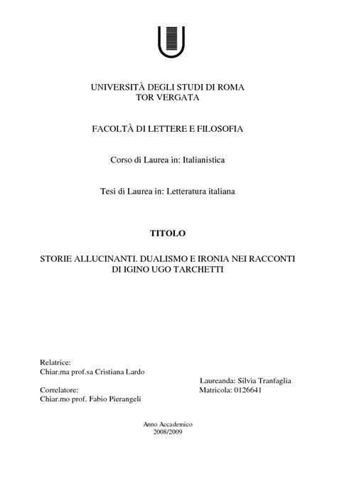 universit 192 degli studi di roma tor vergata facolt 192 di