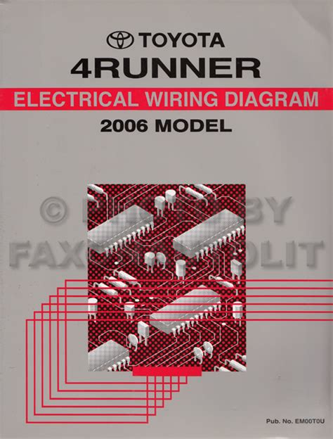 electric and cars manual 2007 toyota 4runner parking system 2006 toyota 4runner wiring diagram manual original