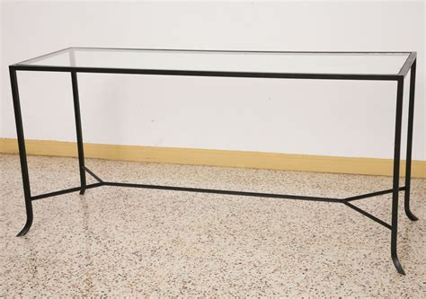 rod iron sofa table sleek modern wrought iron console sofa table at 1stdibs