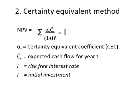 Formula Credit Risk Equivalent Class 28 30 Risk Analysis In Capital Budgeting