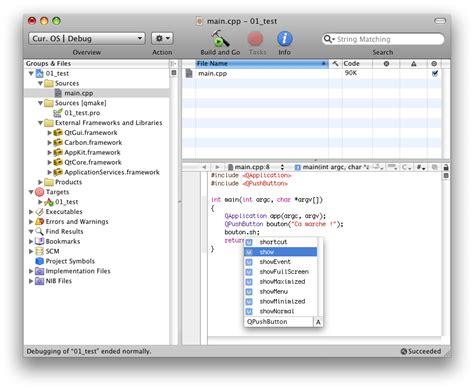 Qt Programming Mac | installer qt sur mac avec xcode ou qtcreator