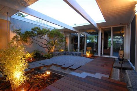 residential atrium design eichler atrium midcentury landscape san francisco