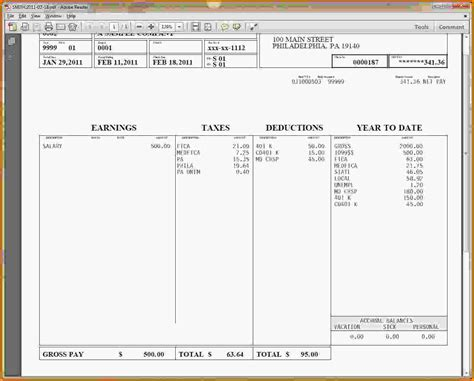 free paycheck stubs templates check stub template pdf html autos post