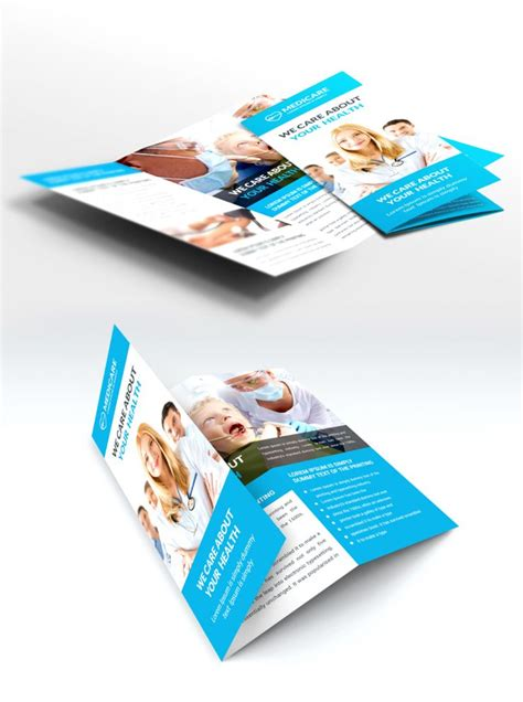 Medical Care And Hospital Trifold Brochure Template Free Psd Download Download Psd Brochure Template Psd