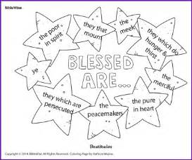 Beatitudes coloring pages for children