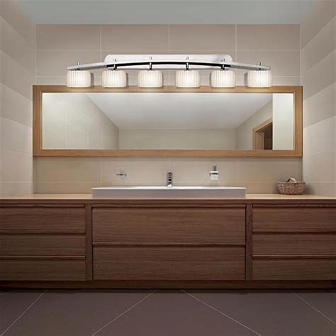 Limoges Polished Chrome Six Light Bath Bar Contemporary Vanity Bar Lights Bathroom