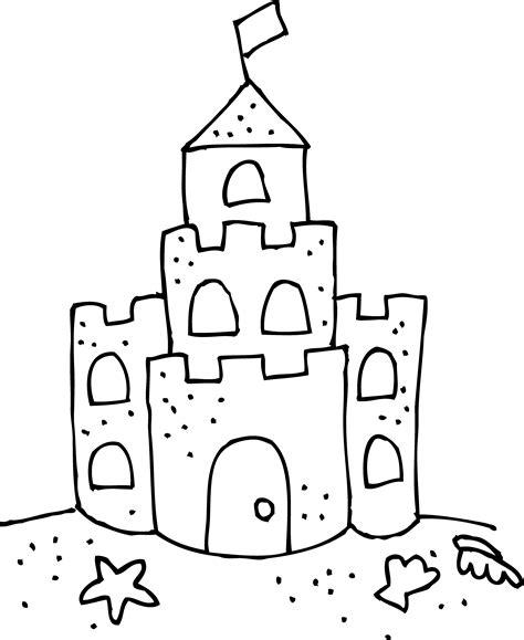 coloring page of sand castle sandcastle coloring coloringpage sandcastle 点力图库
