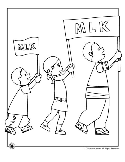 mlk coloring page az coloring pages