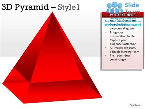 3d Pyramid Style 1 Powerpoint Presentation Slides Ppt Templates 3d Pyramid Powerpoint Template