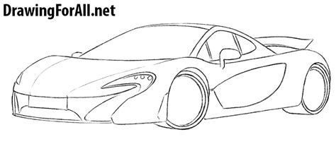 mclaren drawing how to draw a mclaren p1 drawingforall