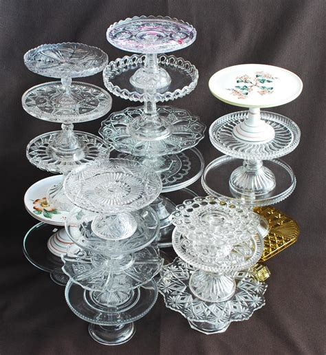 antique glass silver quill antiques and gifts antique glass cake stands