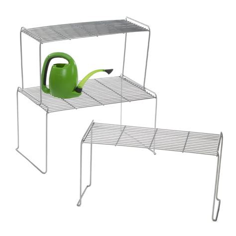 large flat wire stacking shelves the container store