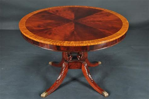 Round Mahogany Dining Table 44 Quot Reproduction Antique | round mahogany dining table 44 034 reproduction antique