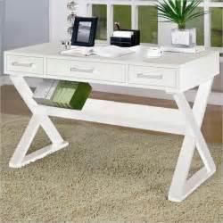 white desk coaster desks desk with three drawers in white