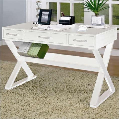 white office desk with drawers coaster desks desk with three drawers in white