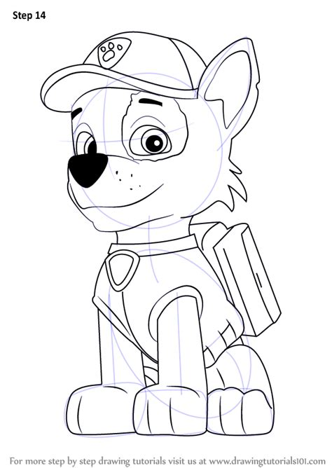 learn how to draw paw patrol badge paw patrol step by step drawing learn how to draw rocky from paw patrol paw patrol step