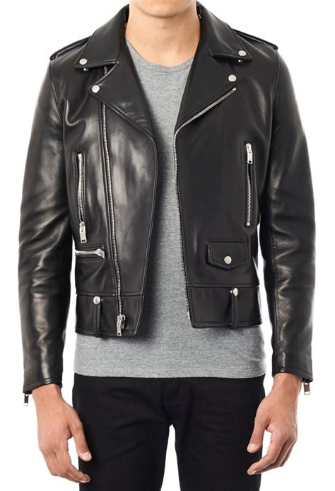 Black Leather Biker Jacket Jacket To