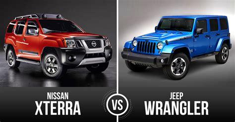 Jeep Patriot Vs Wrangler Used Car Battle Jeep Wrangler Unlimited Vs Nissan Xterra