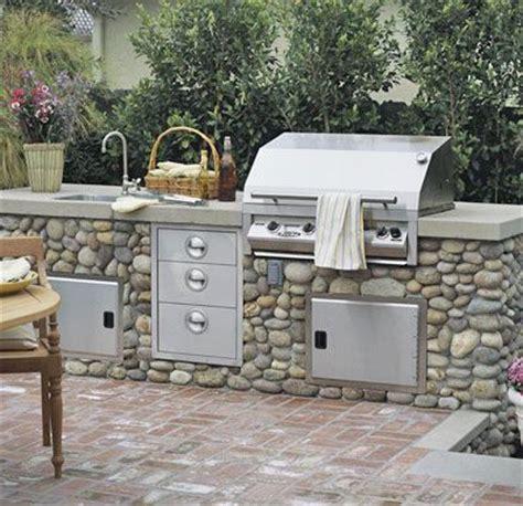 Outdoor Kitchen Design Ideas Backyards Natural Texture Backyard Grill South