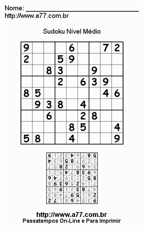 sudoku nivel medio quebra cabeca numerico vers 227 o para impress 227 o deste passatempo
