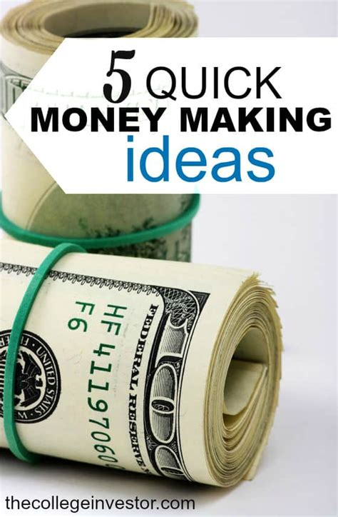 Easy Money Making Ideas Online - 5 quick money making ideas that take less than 1 hour