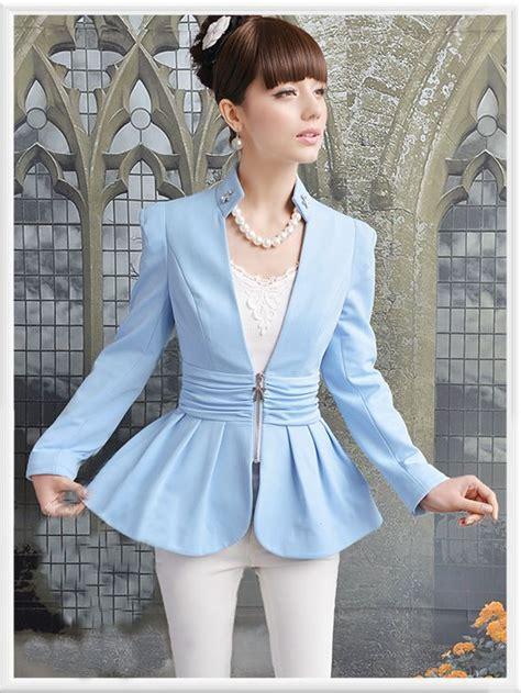 Longhem Trio Blue morpheus boutique blue pleated sleeve zipper hem jacket 139 99 http www