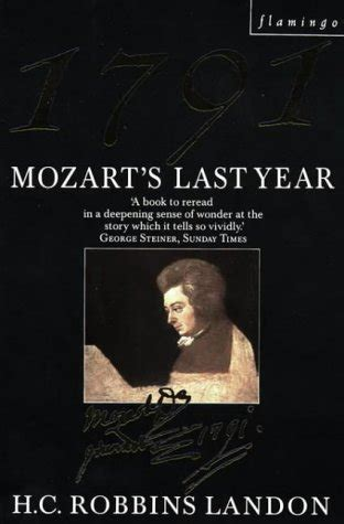 Novel Mozart S Last cheapest copy of 1791 mozart s last year flamingo by h c robbins landon 0006543243