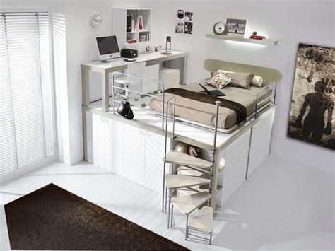 soluzioni da letto letto soppalco con varie soluzioni salvaspazio di design