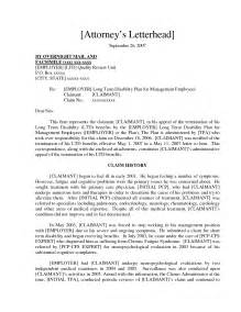 Term Disability Appeal Letter by Claim Appeal Letter Sle Dtpa Notice Letter