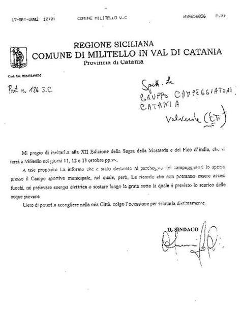 lettere di invito gruppo ceggiatori catania