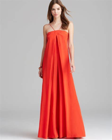 Outlet Alert Diane Furstenberg Graphic Patterned Dress by Diane Furstenberg Maxi Dress Silk In Chili