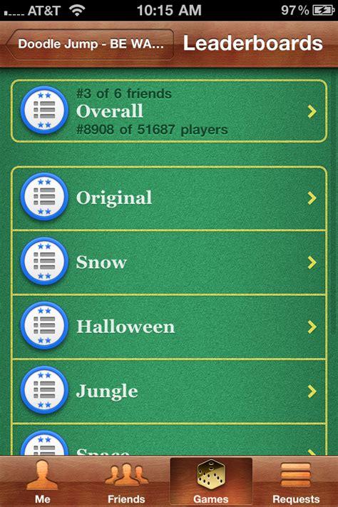 doodle jump leaderboard doodle jump updated with limited center integration