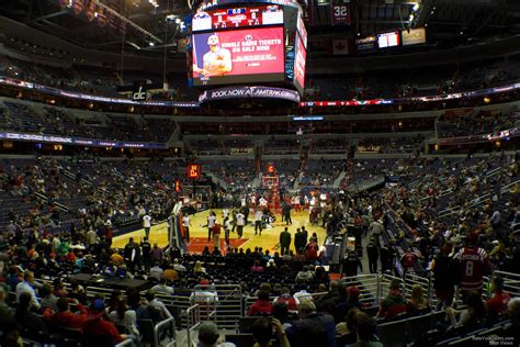 verizon center section 114 100 level corner verizon center basketball seating