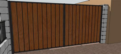 picture iron wood double gate provided by phoenix wrought iron fence gates services phoenix