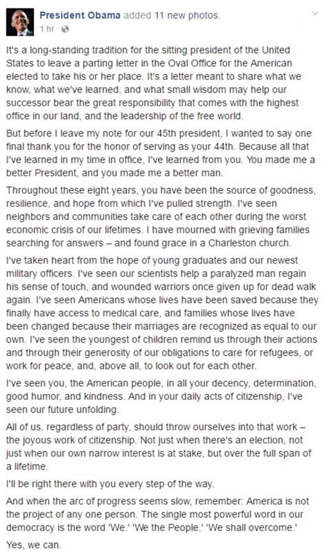 thank you letter for him barack obama pens thank you letter to american