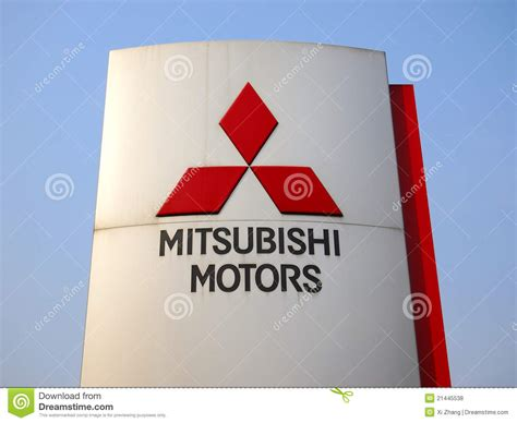 mitsubishi logo editorial stock photo image 21445538