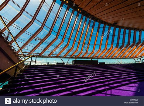 sydney opera house interior interior view sydney opera house bennelong point sydney new south stock photo