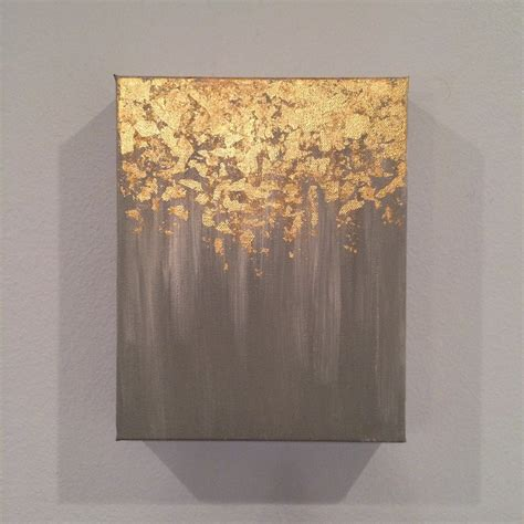 gold abstract painting kitchen dining