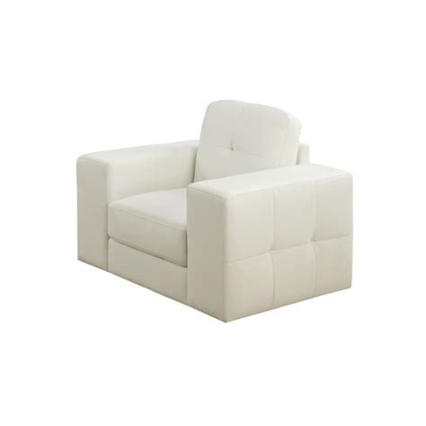 Ivory Accent Chair Leather Accent Chair In Ivory I8221iv