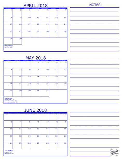 Printable Calendar Summer 2018 | 3 month summer calendar 2018 printable journalingsage com