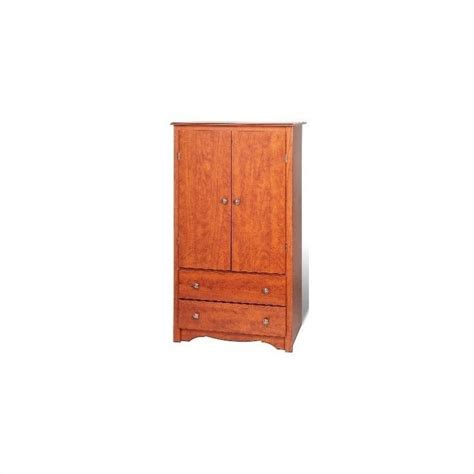 cherry wardrobe armoire prepac monterey cherry wardrobe tv armoire ebay