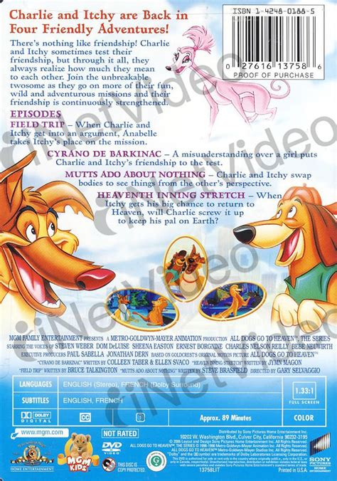 all dogs go to heaven the series all dogs go to heaven the series friends to the rescue mgm bilingual on dvd